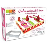 ScrapCooking Adjustable Rectangle Frame for Cake, Stainless Steel