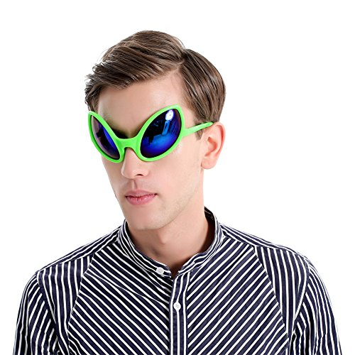 Ocean Line Alien Sunglasses - Halloween Party Favors, Novelty Shades, Party Toys, Funny Costume Glasses Accessories for Kids & Adults