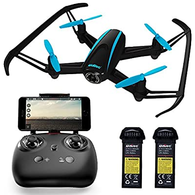 Quadcopter Drone with Camera Live Video - Dragonfly Indoor Outdoor WiFi FPV Drone with 2 Batteries by Force1