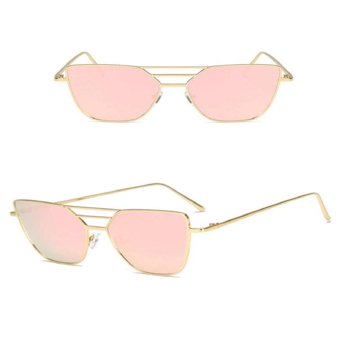 Naladoo Women Men Sunglasses,Fashion Unisex Vintage Irregular Glasses Fashion Aviator Mirror Sunglasses Pink