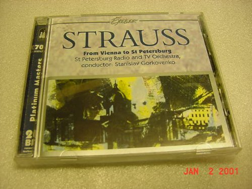 Audio Music CD Of Strauss From Vienna to St Petersberg With Conductor Stanislav Gorkovenko.