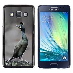Roadrunner pájaro desierto Invierno Naturaleza- Metal de aluminio y de plástico duro Caja del teléfono - Negro - Samsung Galaxy A3