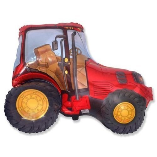 Red Tractor 26 Foil Balloon - Farmyard Party by farmyard party