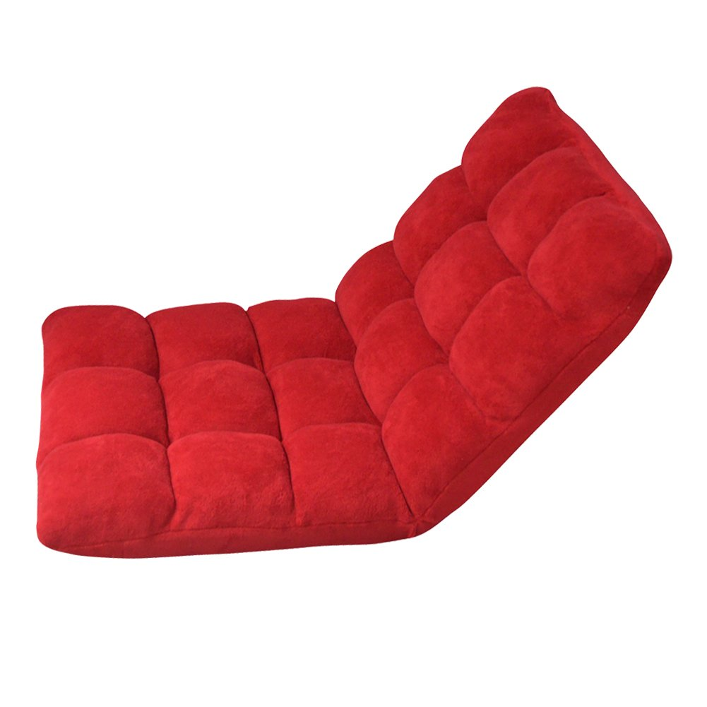 Amazon.com: GLS Adjustable Comfort Floor Folding Sofa Chair Home Cushion in Red Color: Toys & Games