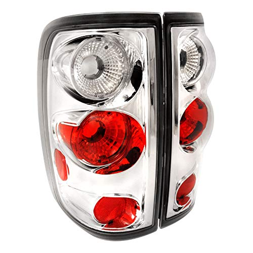 Spec-D Tuning LT-F15004-TM Ford F150 Style Side Chrome Clear Altezza Tail Lights Lamps Pair