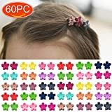 Elesa Miracle 60pcs Baby Girl Mini Hair Claw Clips Flower Hair Bangs Pin Baby Girl Hair Accessories Clips