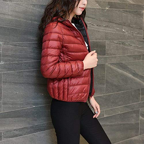 Invernali Impermeabile Eleganti Comodo Cappotto Piumino Fashion Di Morbidi Giacca Caldo Leggero Ragazza Taglie Giacche Transizione Casual Incappucciato Forti Winered Donna Trapuntata Outerwear PIqzwZnzSX
