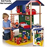 Constructive Playthings KRP-645 Big Beautiful Dollhouse and Furniture Set For Kids