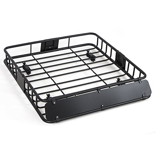ARKSEN 250LB Universal 43' Roof Rack Cargo Auto Top Luggage Carrier Basket SUV Traveling Holder