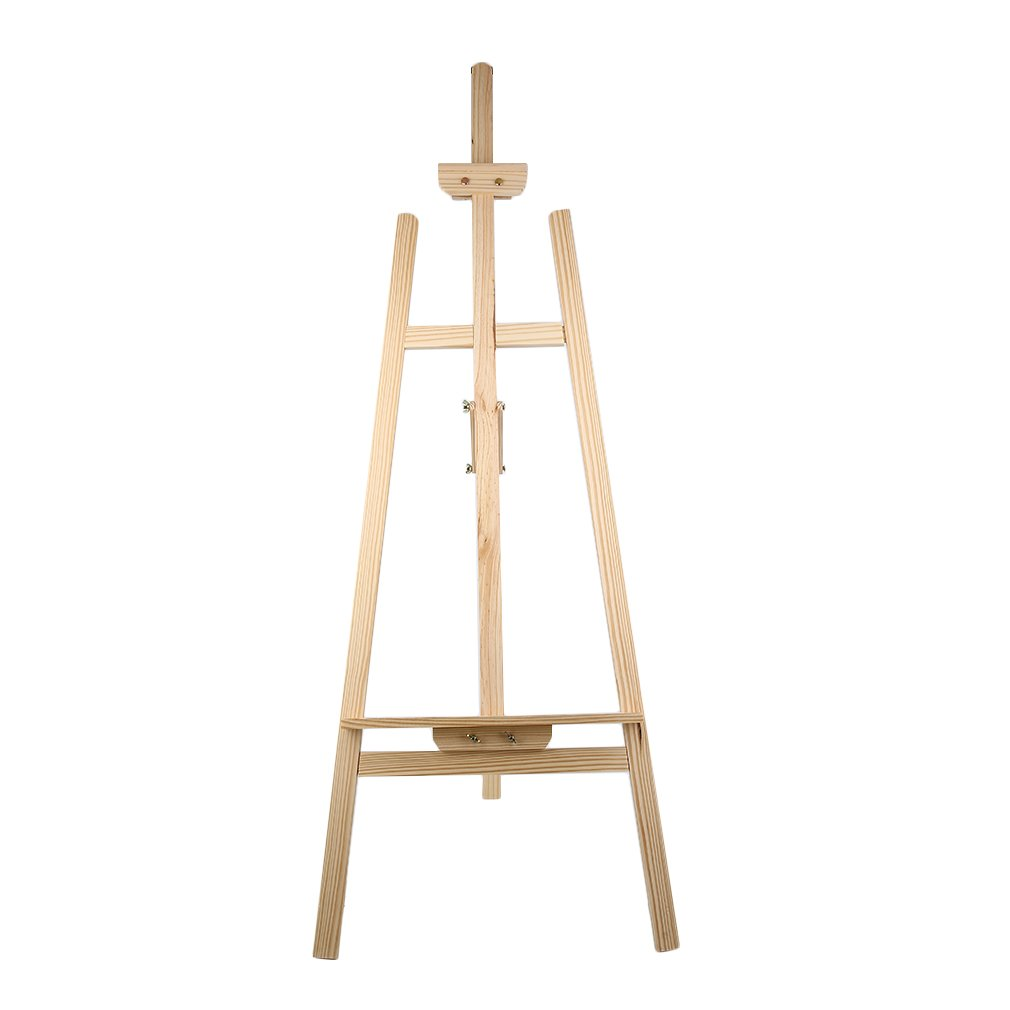 Hifeel Staffelei Kiefernholz 150cm Künstler Holz Faltung Staffelei Rahmen Verstellbar Stativ Display Regal Outdoors Studio Displayrahmen