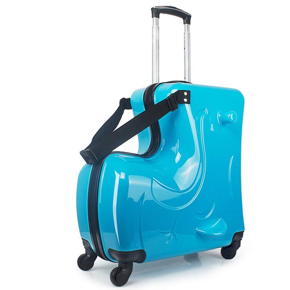 e6238f366 Niños Que montan la Caja de la Carretilla Hardside Equipaje Niños PC  Embalaje Bolsa Niño Maleta Impermeable,Blue: Amazon.es: Deportes y aire  libre