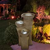 Go Yard Cascade Bowls Fountain with LED Lights