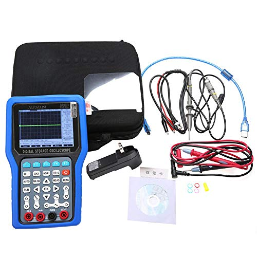 (Digital Oscilloscope, JDS3012A Handheld 250MSa/S 30MHz 2CH Oscilloscope with 6000 Multimeter AC100-240V Oscilloscope with Multimeter (US Plug))