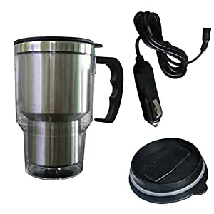 Fine Life Heated Travel Mug with Car Charger