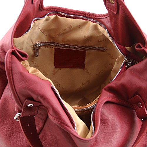 81413574 - TUSCANY LEATHER: GINA - Sac hobo en cuir, rouge