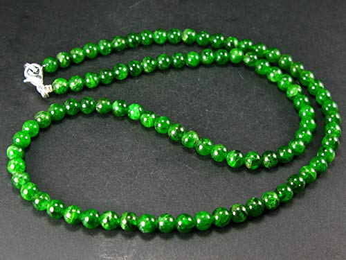 Chrome Diopside Necklace From Russia - 19
