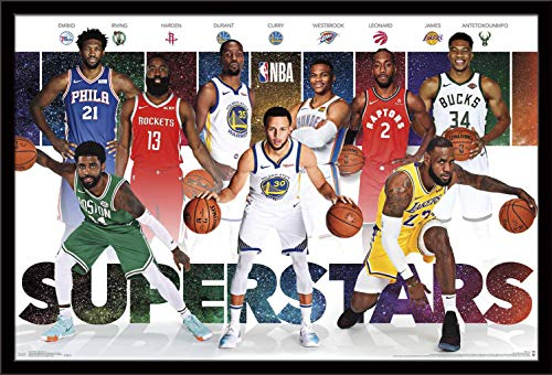 "Trends International NBA - Superstars Wall Poster, 24.25"" X 35.75"", Multi"