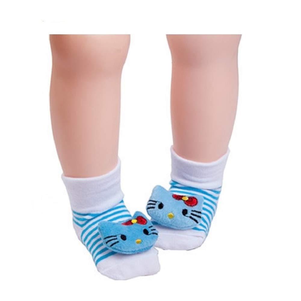 Baby Socks Red Hello Kitty Anti-Slip Newborn Girls Sock 0-12 Month