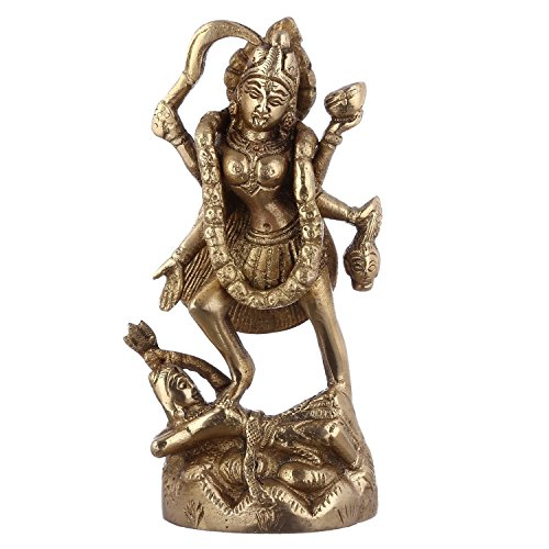 Purpledip VZX455 Maa Kali Brass Statue for sale  Delivered anywhere in Canada