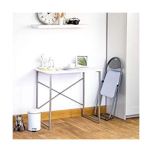 Chaise pliante rembourrée – pour le bureau – blanc – lot de 6