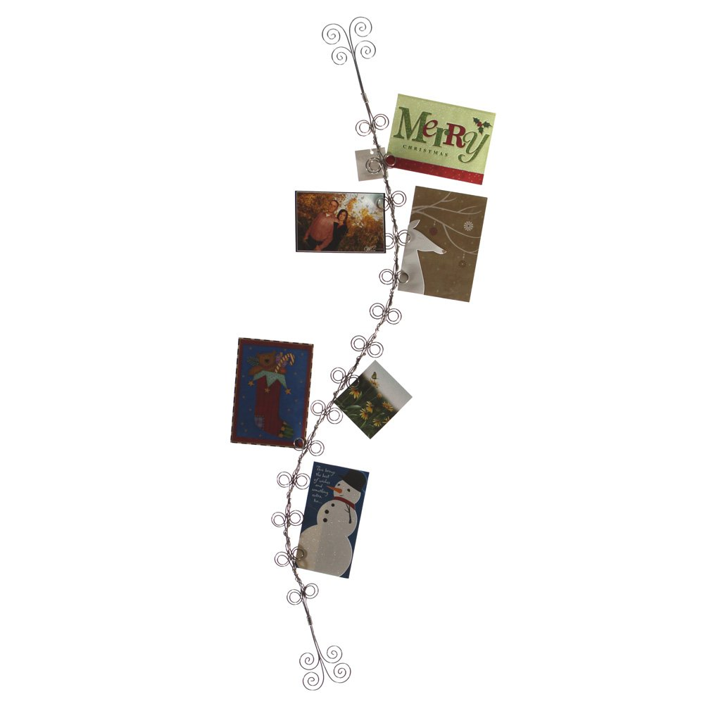 Amazon.com: 4 Foot Wire Christmas Card and Photo Holder: Home ...