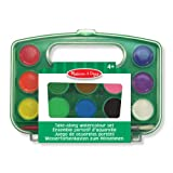 Melissa & Doug Take-Along Watercolor Paint Set - 5 Washable Paints