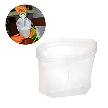 BESTONZON Bolsa de leche de nuez, bolsa de tamiz de alimentos de malla fina de