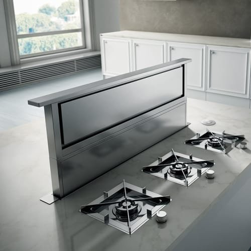 Elica ERS636 600 CFM 36 Inch Wide Downdraft Range Hood from the Rise Collection, Stainless ()