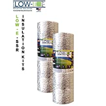"""2 PACK Wholesale Lot: ESP Low-E® SSR Reflective Foam Core Insulation Kit: 2 Rolls (Size 24""""x25') Includes 25' Foil Tape per roll, Knife & Squeegee. Multipurpose Home Insulation For Your Building Project or Just Every Day Household Needs."""