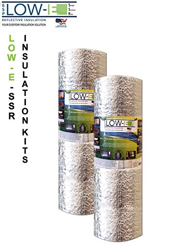 2 Pack Wholesale Lot  Esp Low E  Ssr Reflective Foam Core Insulation Kit  2 Rolls  Size 24 X25  Includes 25 Foil Tape Per Roll  Knife   Squeegee  Multipurpose Home Insulation For Your Building Project Or Just Every Day Household Needs