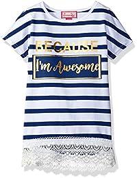 Dream Star Girls' Short Sleeve Stripe Top W/ Foil and...