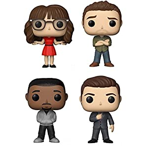 POP Television: New Girl Jess, Nick, Winston, and Schmidt Vinyl Figures Set
