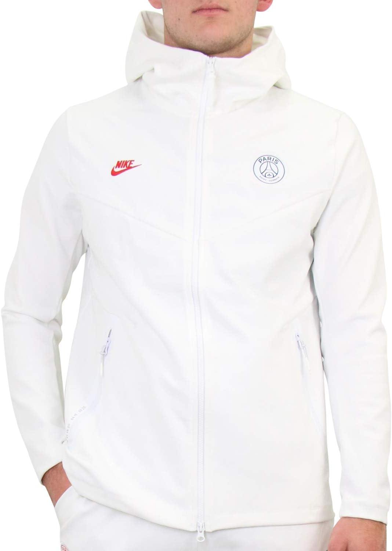 importante labios Burro  Nike Men's Paris Saint-Germain Tech Pack Sweatshirt, White, M:  Amazon.co.uk: Sports & Outdoors