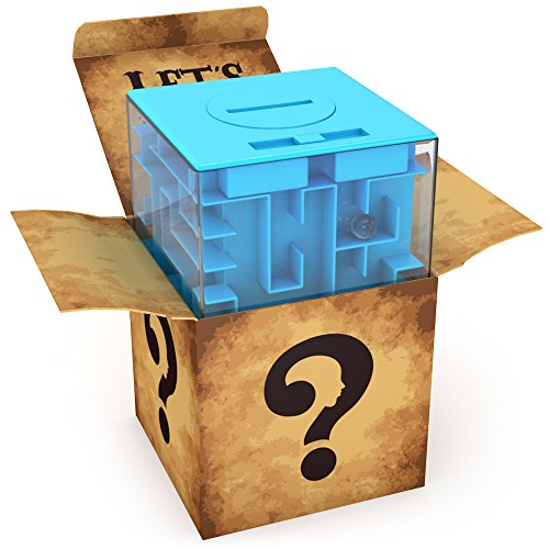 Money Maze Puzzle Box For Kids and Adults- Unique Way To Give Gifts For Special People - Fun and Inexpensive Game Challenge For Teenagers - Safe for Children! - Available on Amazon