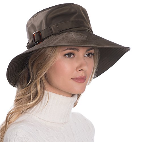 Eric Javits Luxury Fashion Designer Women's Headwear Hat - Kaya - Brown by Eric Javits