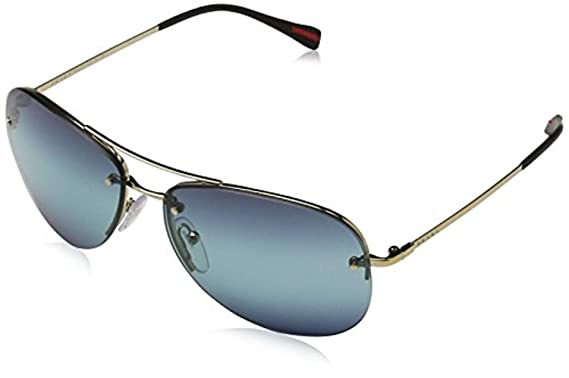 e35daf1f73 Amazon.com  Prada Linea Rossa Unisex 0PS 54RS Sunglasses  Clothing