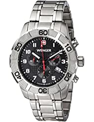 Wenger Mens 01.0853.102 Roadster Chrono Analog Display Swiss Quartz Silver Watch