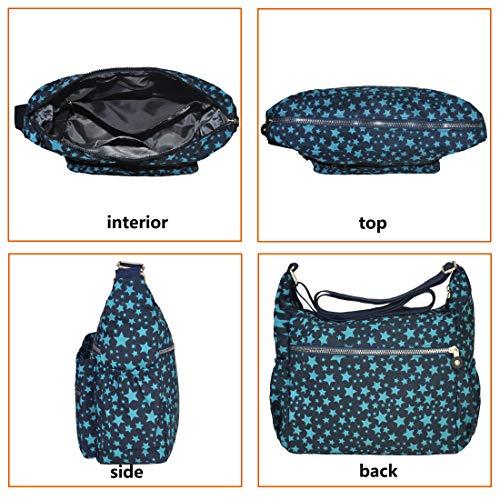 8016 Handbag Shoulder Rock Lightweight Nylon Crossbody Travel pattern star Volganik Bag Purse Waterproof Pocket Multi CqPvx7A7