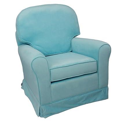 Fun Furnishings Comfy Cozy Skirted Velvet Glider, Aqua