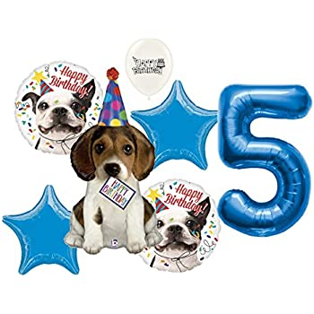 c5eb27a9fa6e 5th Birthday Puppy Birthday Wishes Party Decorations Balloon Bouquet Bundle