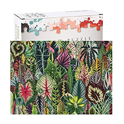 FINME Jigsaw Puzzle 1000Pieces for Adult, Houseplant Jungle Green Plant Jigsaw Puzzle (Green): Sports & Outdoors