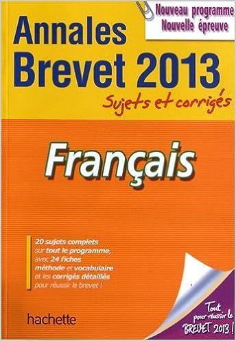 Livres audio téléchargeables gratuitement pour les lecteurs mp3 Objectif Brevet 2013 Annales sujets et corrigés - Français de Brigitte Réauté,Michèle Laskar ( 5 septembre 2012 ) en français RTF