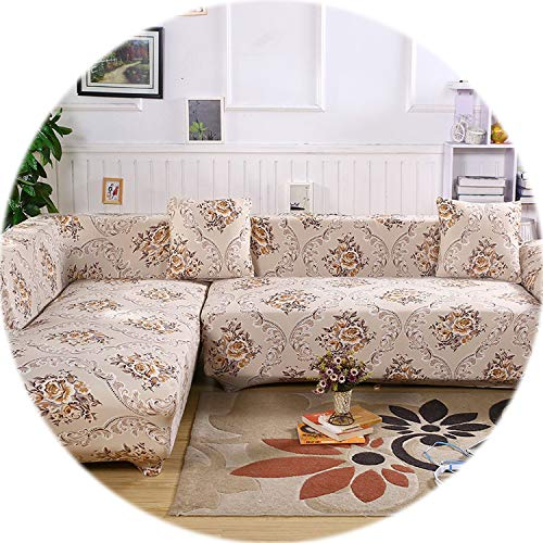 2 pcs Covers for Corner Sofa Sectional Couch Slipcovers Universal Elastic Stretch L Shaped Sofa Covers Furniture Protector SC022,7,1Seater and 2Seater (Couch Sectional Toronto)