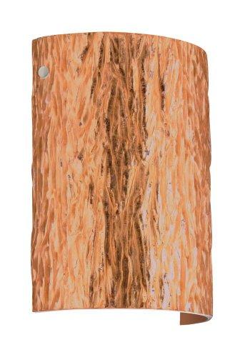 (Besa Lighting 7090CF-SN 1X75W A19 Tamburo 8 Wall Sconce with Stone Copper Foil Glass, Satin Nickel Finish)