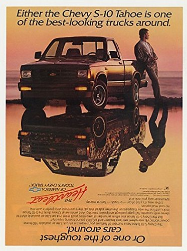 1989 Chevy S-10 Tahoe Pickup Best-Looking Truck Original Print - Chevy Pickup Truck S10