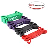 femor Pull Up Assist Bands – Stretch Resistance Band - Mobility Band - Powerlifting Bands for Body Stretching, Powerlifting and Resistance Training, Set of 4