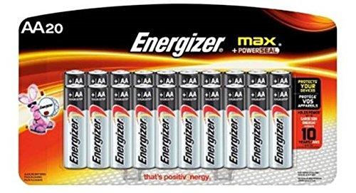 Energizer Max E91LP 20 Battery AA - Alkaline