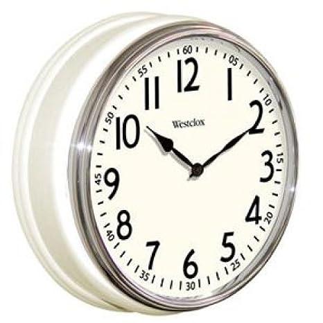 WESTCLOX Vintage Kitchen Wall Clock 12u0026quot; ...