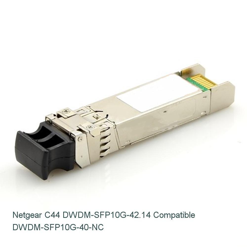 NETCNA Netgear C44 DWDM-SFP10G-42.14 Compatible 10G DWDM SFP 100GHz 1542.14nm 40km DOM Transceiver