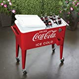 80-Quart Rolling Retro Coca-Cola Cooler